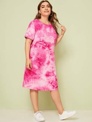 Shein Plus Tie Dye Dress