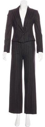 MaxMara Pinstripe Wide-Leg Pantsuit $125 thestylecure.com