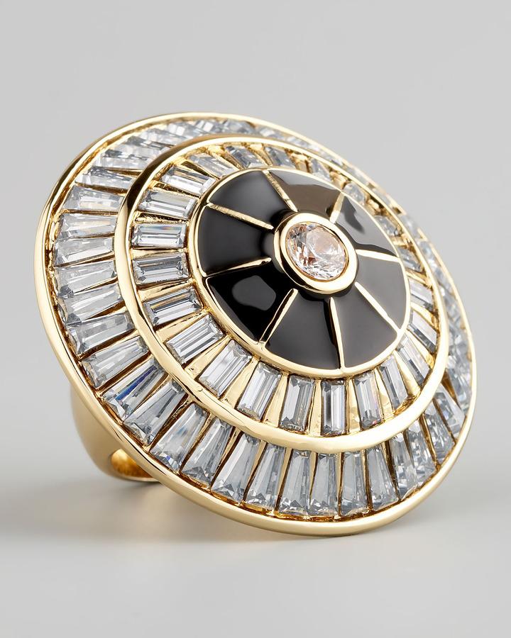 Rachel Zoe Crystal Circle Ring