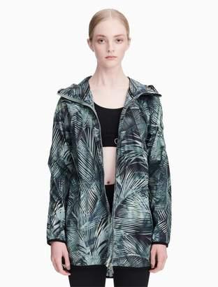 Calvin Klein printed hooded walker jacket + backpack