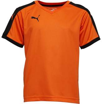 Puma Junior Boys Pitch Shirt Orange/Black