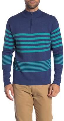 Peter Millar Bradford Striped Quarter Zip Pullover