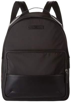 Giorgio Armani Faux Leather Trim Backpack