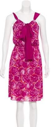 Tory Burch Printed Scoop Neck Dress