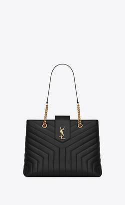 Saint Laurent Loulou Large Shopping Bag In Matelasse Y Leather
