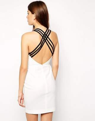 AQ AQ Tri Cross Back Mini Dress $156 thestylecure.com