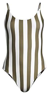 Mikoh Women's Portugal Striped One-Piece Swimsuit