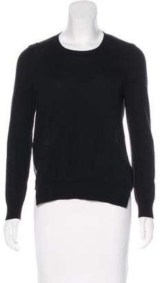 J Brand Wool Chiffon-Accented Sweater