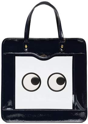 Anya Hindmarch black Eyes Rainy Day Leather Tote