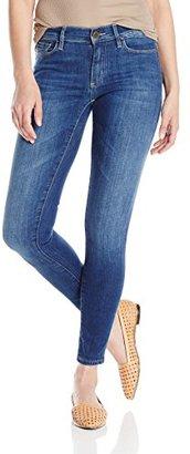 Buffalo David Bitton Women's Faith Midrise Skinny Mid-Wash Jean $99 thestylecure.com