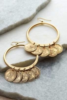 Soft Surroundings Jingle Jangle Coin Earrings