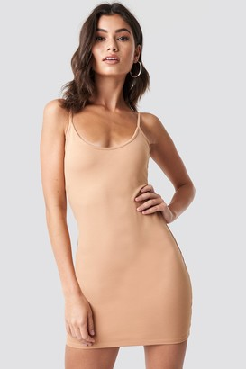 Nicki X Na Kd Thin Strap Bodycon Dress Tan