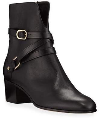 d5851802e4b9 Jimmy Choo Strap Buckle Women's Boots - ShopStyle