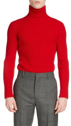 Balenciaga Solid Cashmere Blend Turtleneck Sweater