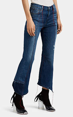 J Brand X KOZABURO Women's Jolene Patchwork Crop Flare Jeans - Blue
