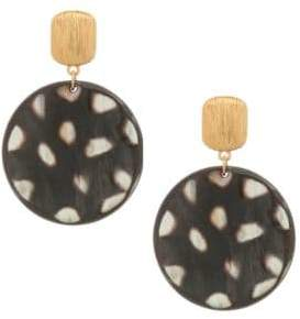 Nest 24K Goldplated Spotted Horn Disc Earrings