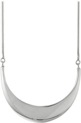 Shinola Detroit - Sterling Silver Large Crescent Pendant Necklace
