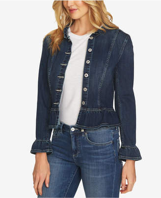 CeCe Peplum Denim Jacket