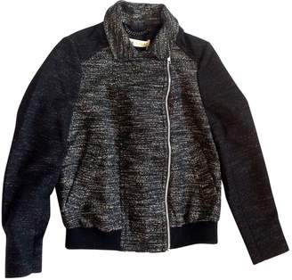 Whistles Silver Cotton Leather Jacket for Women