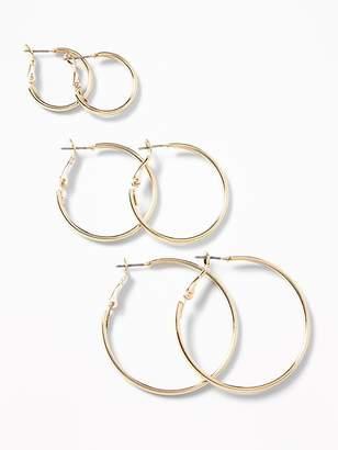 Old Navy Hoop Earrings 3-Pack for Women