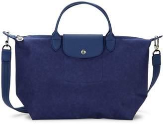 Longchamp Leather Trim Convertible Tote