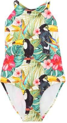 MC2 Saint Barth Jungle Print Lycra One Piece Swimsuit