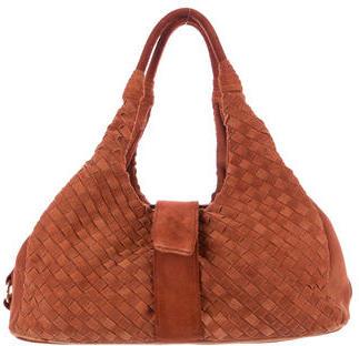 Bottega VenetaBottega Veneta Intrecciato Suede Shoulder Bag