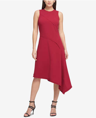 DKNY Asymmetrical Scuba Crepe Dress, Created for Macy's