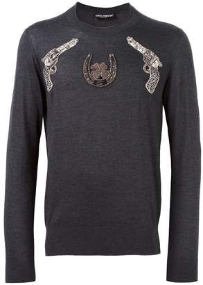 Dolce & Gabbana gun patch jumper