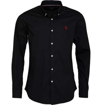 U.S. Polo Assn. Mens Clara Poplin Shirt Black