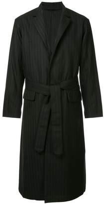 Puma Maison Yasuhiro stripe reversed chesterfield coat
