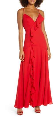Fame & Partners Callais Ruffle Gown