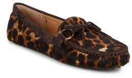 Lauren Ralph Lauren Briley Leopard Print Calf Hair Leather Moccasins