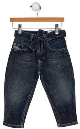 Diesel Girls' Four Pockets Straight-Leg Jeans