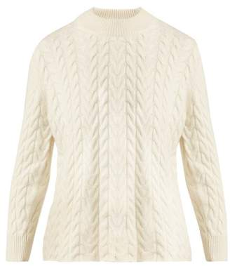 Roche Ryan Cable Knit Cashmere Sweater - Womens - Ivory