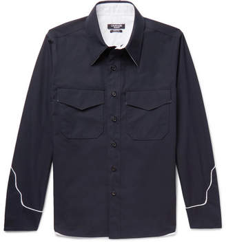 Calvin Klein Contrast-Trimmed Cotton Shirt