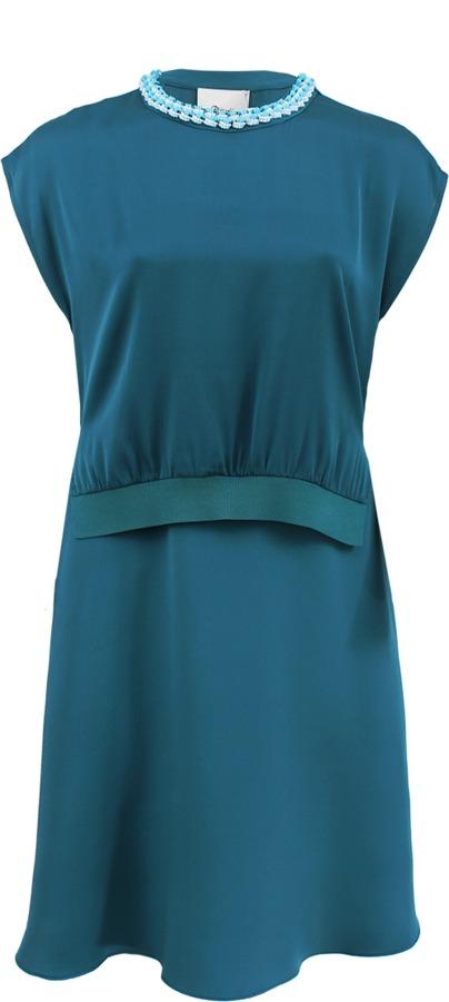 3.1 Phillip Lim Rib Trim Silk Layer Dress