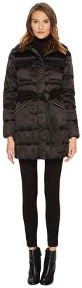 Diane von Furstenberg Brooklyn Lightweight Down Tie Waist Jacket Women's Coat