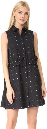 McQ - Alexander McQueen Ruffle Shirt Dress $530 thestylecure.com