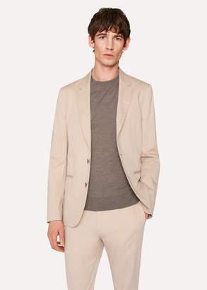 Paul Smith Men's Tailored-Fit Sand Stretch-Cotton Twill Blazer