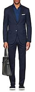 Isaia MEN'S SANITA STRETCH-WOOL-SILK TWO-BUTTON SUIT-NAVY SIZE 42 R