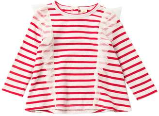 Tucker + Tate Striped Mesh Tee (Baby Girls)