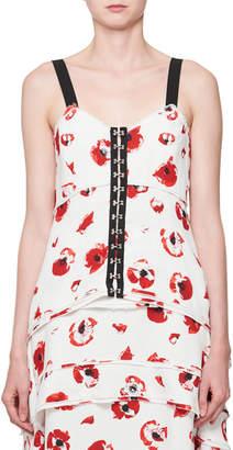 Proenza Schouler Poppy-Print Hook-Front Camisole Top