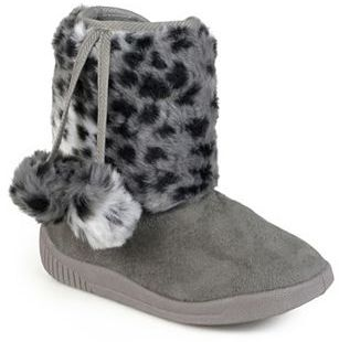 Journee Collection Girls' Pom Pom Faux-Fur Boots $49.99 thestylecure.com