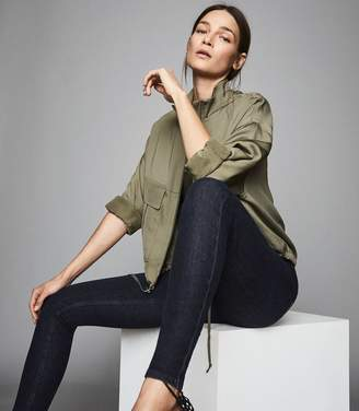Reiss SKYE Bi-Stretch High Rise Skinny Jeans Indigo