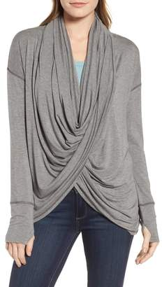 Caslon Off-Duty Long Convertible Cardigan