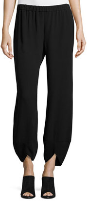 Eileen Fisher Wide-Leg Lantern Ankle Pants, Black $268 thestylecure.com