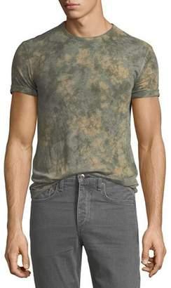 John Varvatos Men's Camo Tie-Dye Viscose T-Shirt