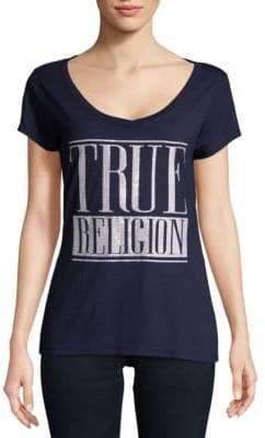 True Religion Logo V-Neck Tee