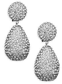 1aeb56360 Kenneth Jay Lane Women's Dome Top Crystal Drop Earrings